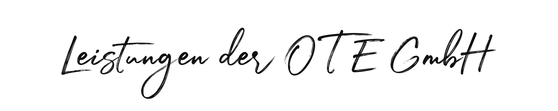 OTE GmbH - Leistungen der OTE GmbH